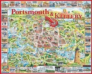 Portsmouth Nh Shopping >> Amazon.com: White Mountain Puzzles Portsmouth NH - 1000