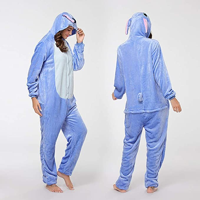 KKCF Historieta Animal Pijama de Franela Azul Stich de una ...