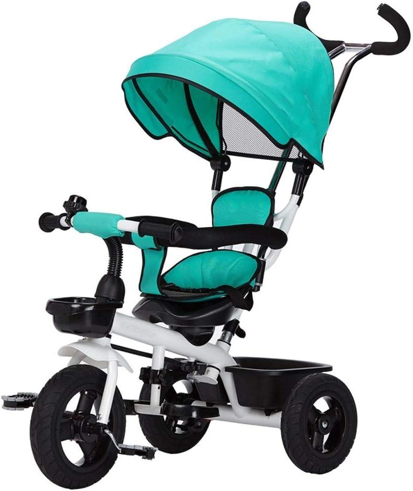 Jixi - Parasol Plegable para Cochecito de bebé de 2 a 6 años de Edad con 3 Ruedas y Barra de Empuje de 360°