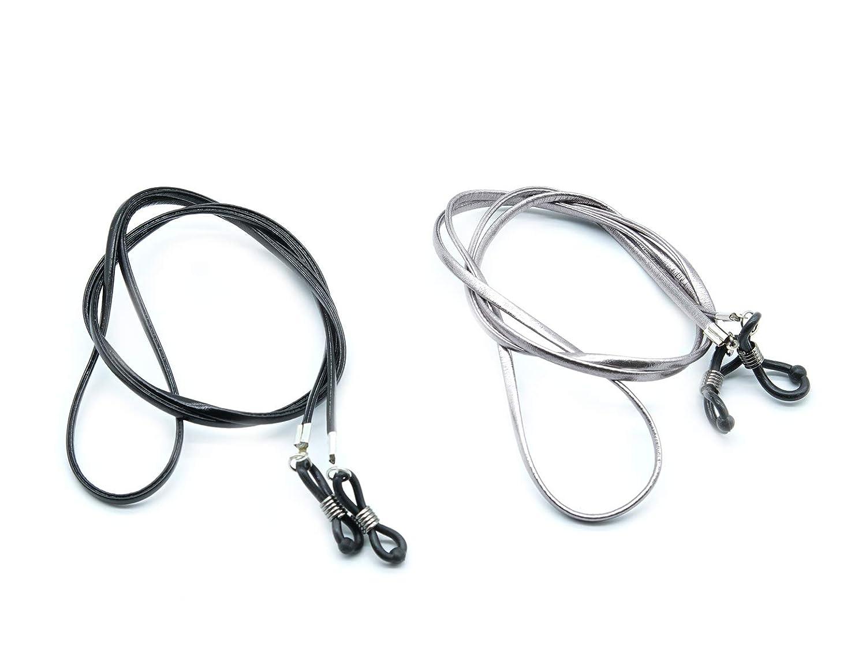 Eyeglass Strap for Men or Women| Glasses Holder Eyewear Retainer 2 Pcs PVC Eyeglass Strap Chains Cords