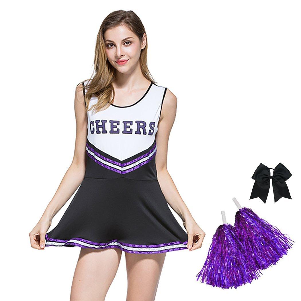 Amazon.com: Disfraz de uniforme de animadora sexy para ...