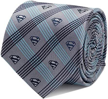 Cufflinks Inc Men's Superman Logo Plaid Tie