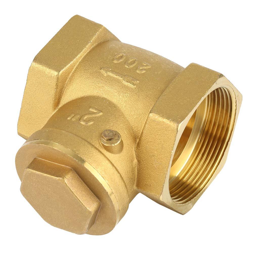 Check Valve,DN50 Female Thread Brass Non-Return Swing Check Valve 232PSI Prevent Water Backflow