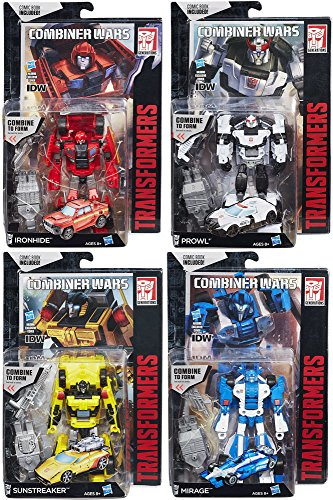 Transformers Generations Combiner Wars Ironhide, Prowl, Mirage & Sunstreaker Set of 4 Deluxe Action Figures