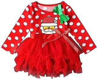 SUMTTER Costume Natale Bimba Vestiti Bambina Principessa Abiti Tutu Ragazza 1-5 Anni per la Festa di Natale, Prestazione, Mostrare