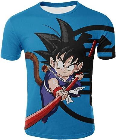 Camisetas,Camisetas con Camiseta Azul De Dragon Ball,Camiseta ...