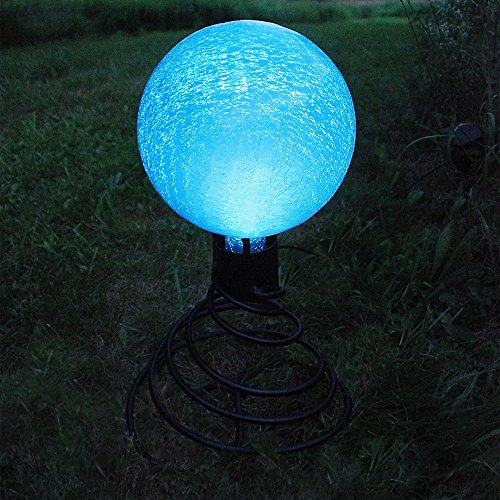 Achla Designs G10-T-F 0000 Solar Powered Colored Glass Globe Light - Outdoor Decor For Garden, Pa, Teal by Achla (Image #3)