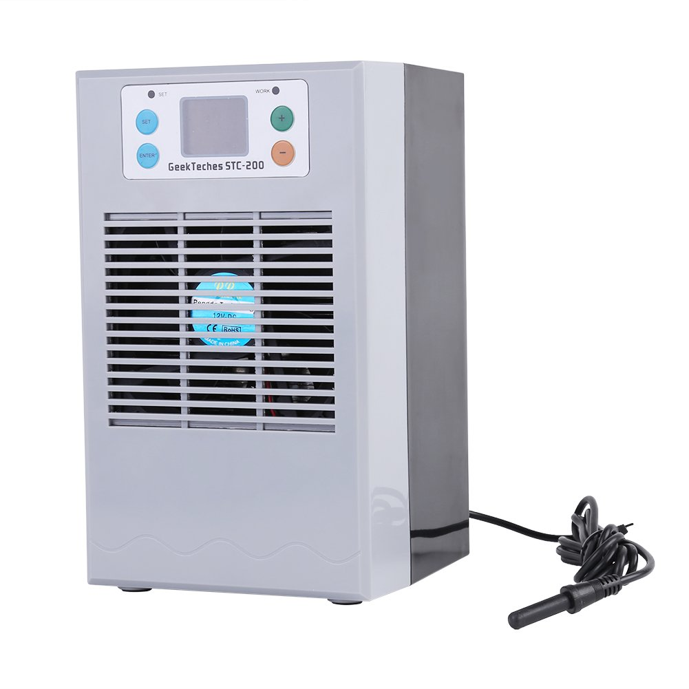 100-240V Aquarium Water Chiller for Fresh Water Salt Water Plant Tank Hydroponic Chiller(American specification plug20L 70W)