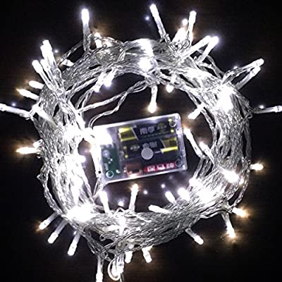String Lights, OFTEN 10M 80 LED String Ligh with Battery Powered for Christmas, Party, Holiday, Weddings, Garden, Bedroom, Indoor Outdoor Decorations Xmas Party Club