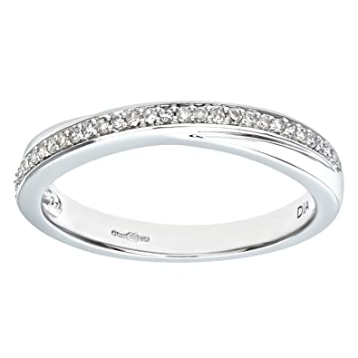 Naava 0.13 Carat I Diamond Pave Setting Eternity Ring in 9ct Gold wN4YR5
