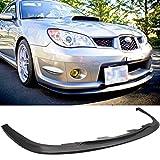 Front Bumper Lip Fits 2006-2007 Subaru Impreza | StI Style Black PP Front Lip Finisher Under Chin Spoiler Add On by IKON MOTORSPORTS