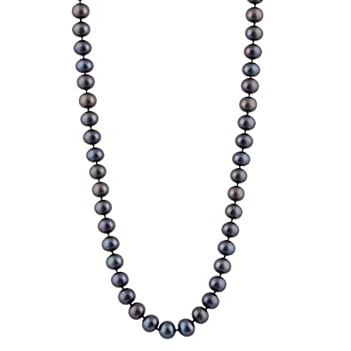 Bella Pearls 6-6.5 mm Freshwater Pearl Strand 16 inch Necklace with Sterling Silver Clasp Qdl83m
