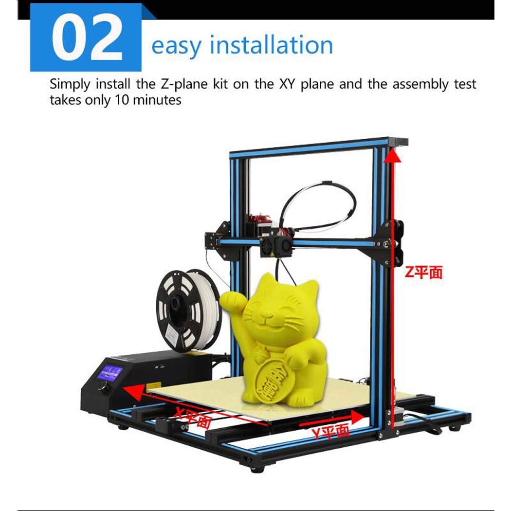 XYANZ Impresora 3D Nueva versión, FDM extrusor, con Construir ...