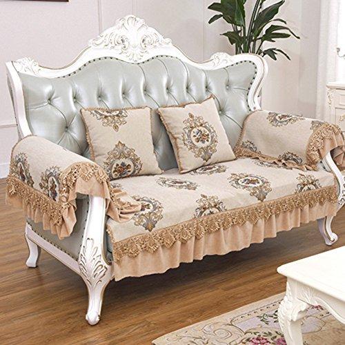 Sofa cushions,fabric non-slip four seasons leather cushion-B 100x160cm(39x63inch)