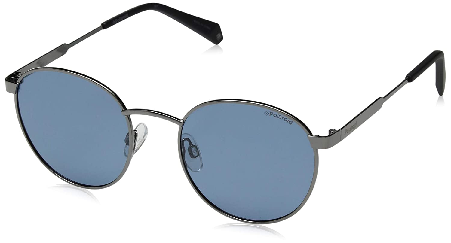 5ce90d8491 Amazon.com  Polaroid Sunglasses Pld2053s Polarized Oval Sunglasses BLUE 51  mm  Clothing