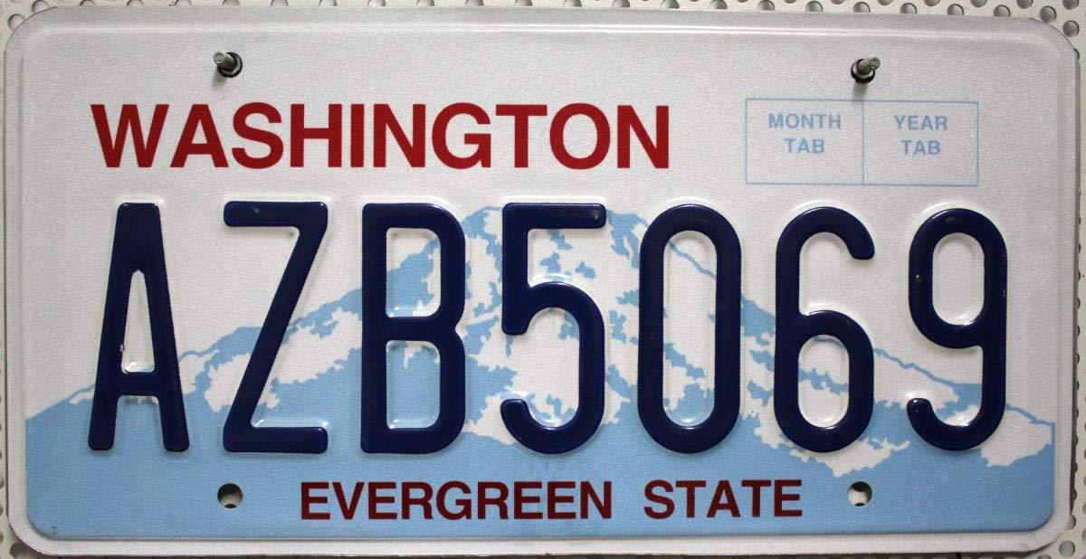 USA Nummernschild WASHINGTON ~ US Kennzeichen plaque dimmatriculation ~ Blechschild