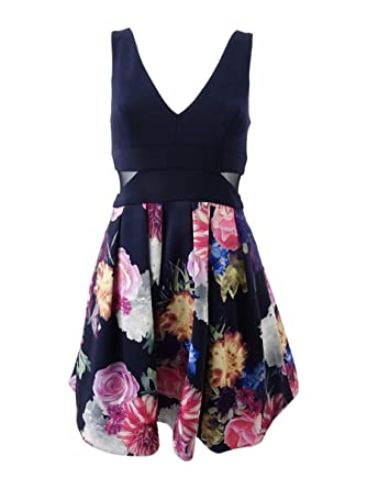 45a5f339 Xscape Printed Skirt Party Dress at Amazon Women's Clothing store: