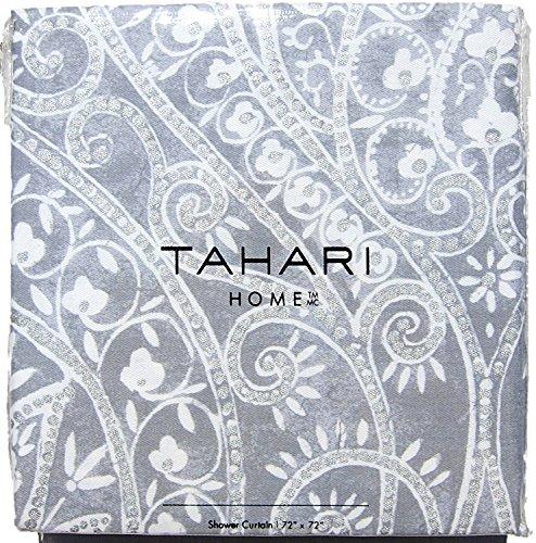 Tahari Home 3pc Duvet Cover Set Paisley Medallion Silver: Desertcart.ae: Tahari Home