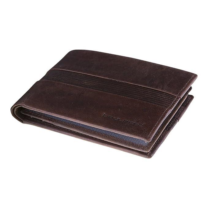 Bouletta Hombres, hecho a mano piel cartera Horizontal Monedero tarjeta monedero cartera monedero Tarjetas Funda Wallet – Cazadores marrón Pulido Napa