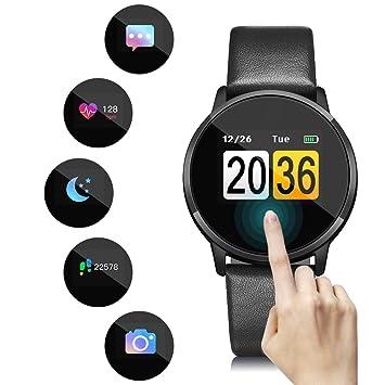 OUKITEL W1 Smartwatch IP67 étanche écran Tactile OLED Bluetooth Montre Connectée, Apps, Caméra à