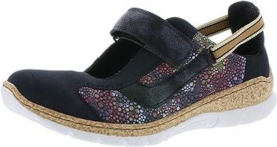 Rieker N42R8 Femme Chaussures à Enfiler,Slip on,Chaussures à