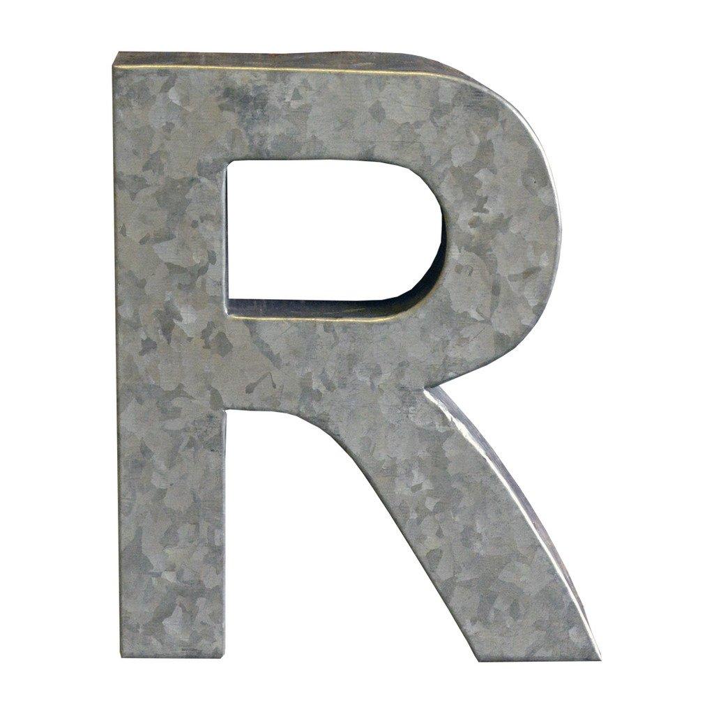 Modelli Creations Alphabet Letter R Wall Decor, Zinc ZNC_LTTR_R