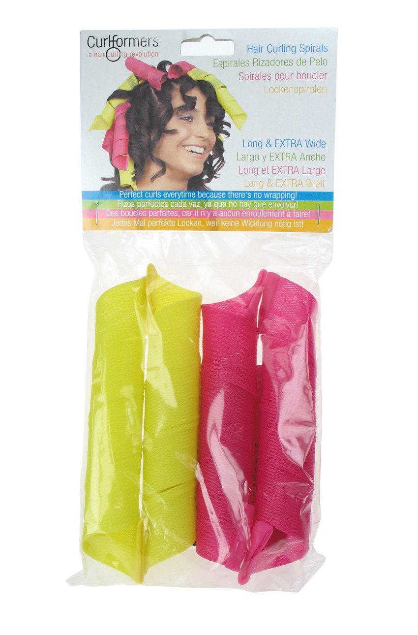 """Curlformers Hair Curlers Barrel Curls Top Up Pack, 6 Hair Curlers (Styling Hook Not Included), for medium to long hair up to 16"""" (40cm) long"""