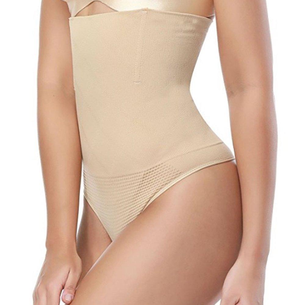 KEALLI Women's Sexy Thong Butt Lifter Shapewear Waist Cincher Girdle Tummy Control Panty