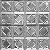 Shanko LS207DA Pattern 207 Authentic Pressed Metal Wall and Ceiling Tiles, 20 sq. ft., Lacquered Steel