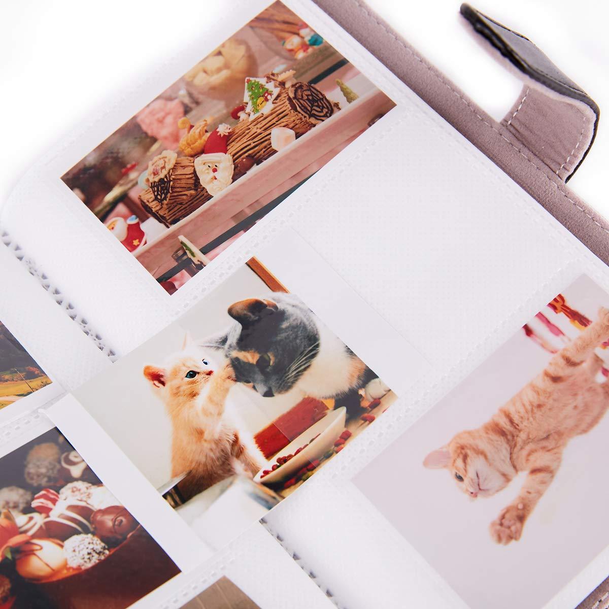 9 25 26 50s 70 90 Appareil Photo de Film instantan/é et Carte de Visite avec 20 Autocollants PCS 64 Pockets, Glace Bleue Annle Instax Mini Album Photo pour Fujifilm Instax Mini 7s 8 8