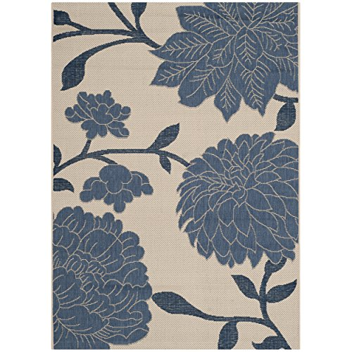 Safavieh Courtyard Collection CY7321-233A2 Beige and Blue Indoor/Outdoor Area Rug (4′ x 5'7″)