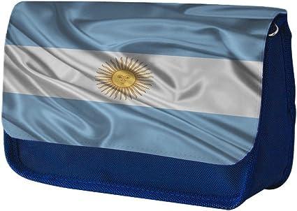Banderas Argentina, Saludar con la mano, Azul Escuela Niños Sublimación Alta calidad Poliéster Estuche de lápices con Diseño Colorido. 21x13 cm.: Amazon.es: Oficina y papelería