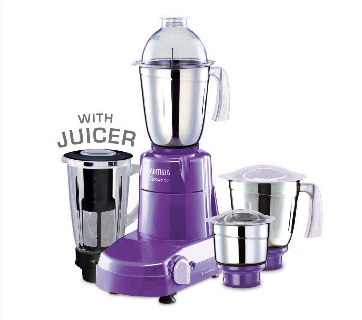 Buy Amirthaa Classic 750W Juicer Mixer Grinder with 4 Jars
