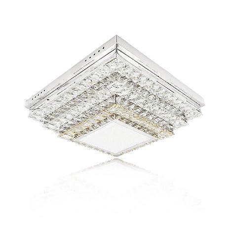 64W LED Luz de techo Lámpara de techo de cristal de lujo ...