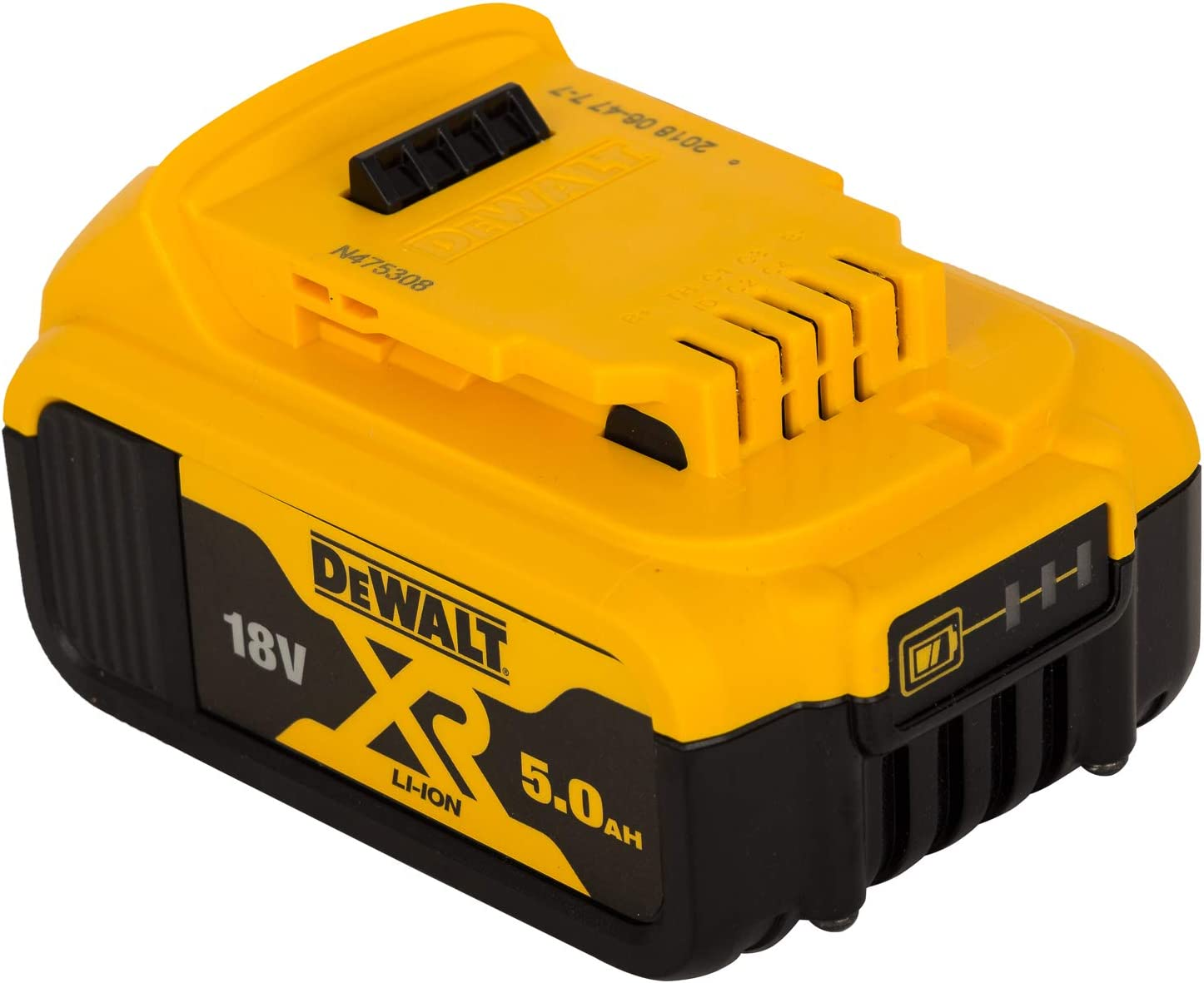 Batería DEWALT DCB184-XJ de Li-on XR 18V de 5Ah con sistema de carril que proporciona una sujeción más segura a la herramienta