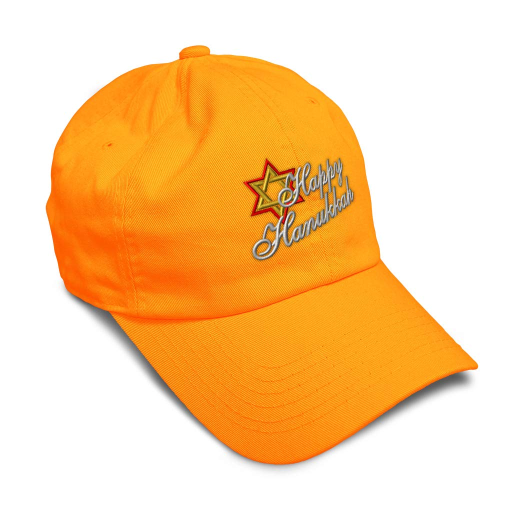 Custom Soft Baseball Cap Happy Hanukkah Embroidery Dad Hats for Men /& Women