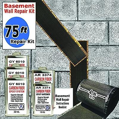 75 ft-Carbon Fiber-Basement Wall Crack Repair Kit