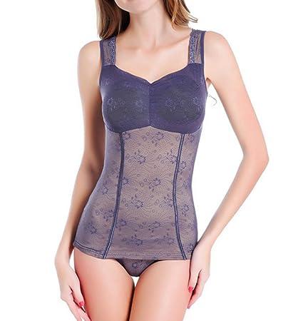 Weider Body Shaper Para Mujer Delgada Sección Abdomen Adelgazar Ropa Interior Transpirable Modal Chaleco Con Pecho Padxl, XXL, XXXL,Blue,XL: Amazon.es: ...