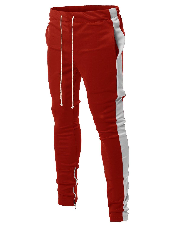 Style by William PANTS メンズ B07B8VRGQQ Large|Fsmptl0003 Red White Fsmptl0003 Red White Large