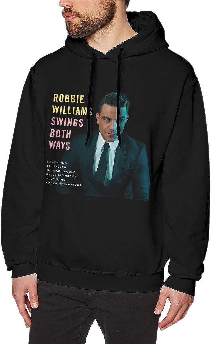 Robbie Williams Cool Mens Hat and Pocketless Sweater Black XXL