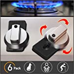Baby Safety Oven Knob Locks - Childproof and Pet Kitchen Gas