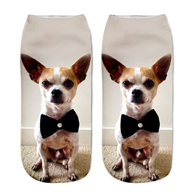Amazon.com: Harajuku Ankle Dog Calcetines Femme Chaussette Mujer Funny Sock Cute Emoji Short Socks: Clothing