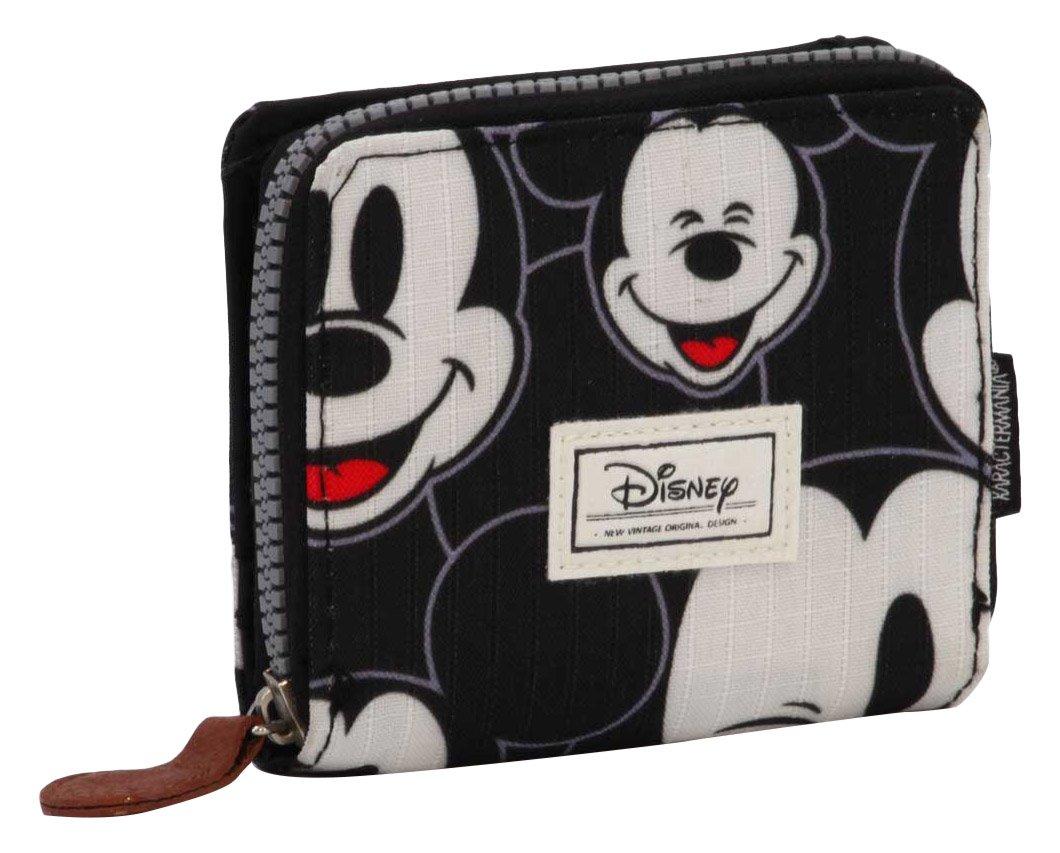 Disney Classic Mickey Visages Porte-Monnaie, 11 cm, Noir (Negro) Karactermania 36545