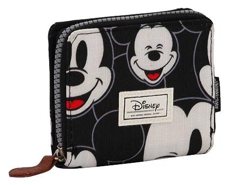 Karactermania 36545 Disney Classic Mickey Visages Monederos, 11 cm, Negro