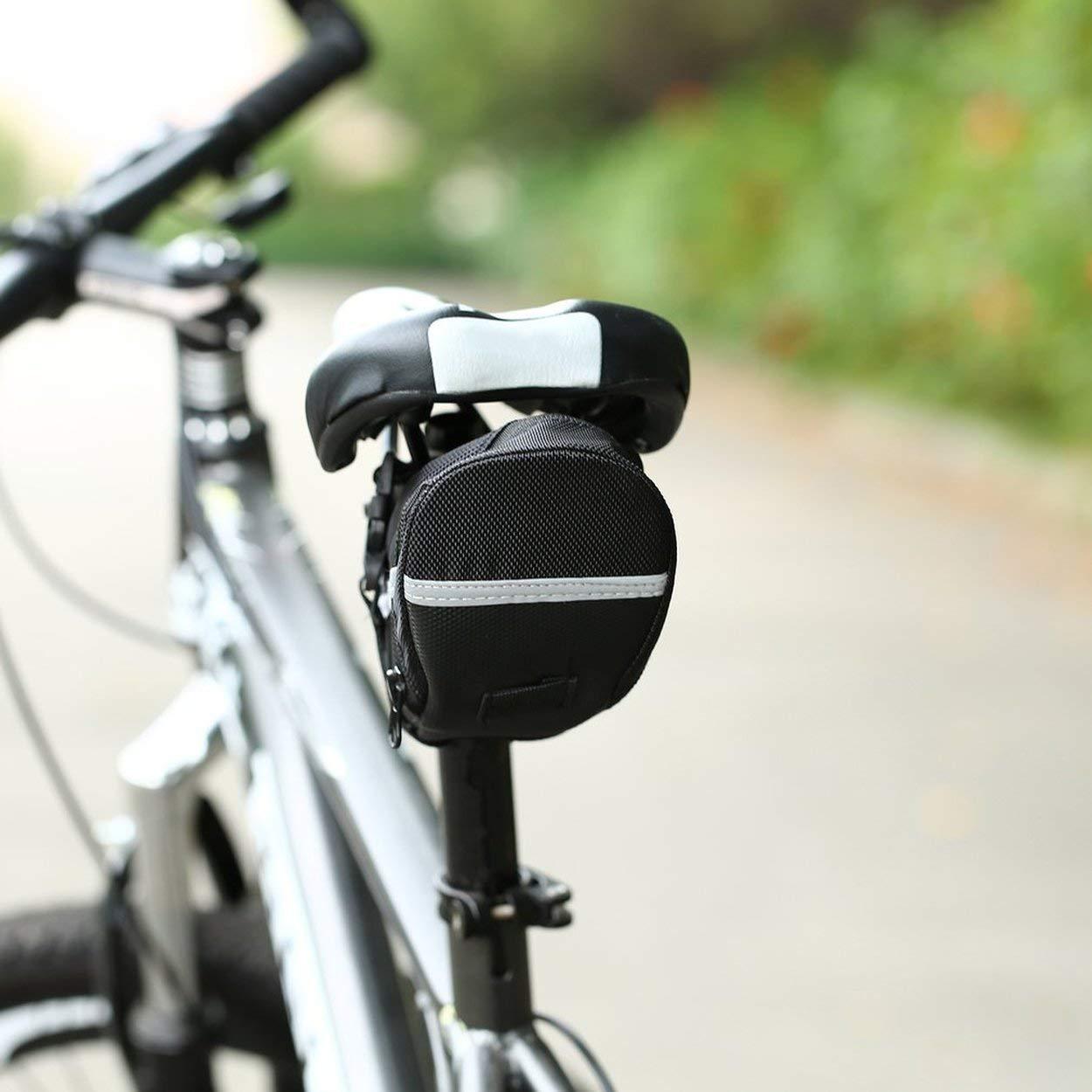 Lorenlli Al Aire Libre a Prueba de Agua de la Bicicleta de monta/ña Bolsa de Asiento Trasero de Nylon Bolsa de Silla de Montar Ciclismo Bolsa de Bicicleta para Bicicletas Cola Bolsa de Mochila