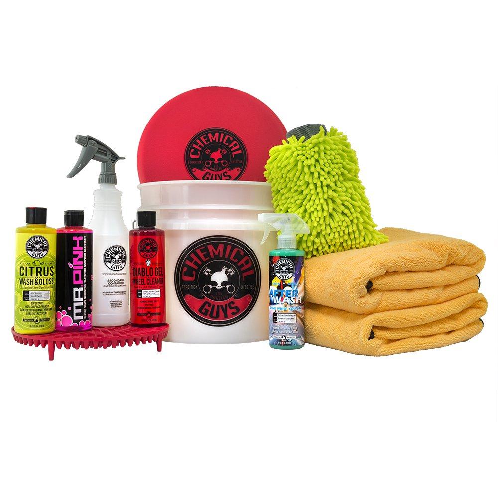 Chemical Guys HOL132 Best Car Wash Bucket Kit, with Dirt Trap (11 Items), 16. Fluid_Ounces