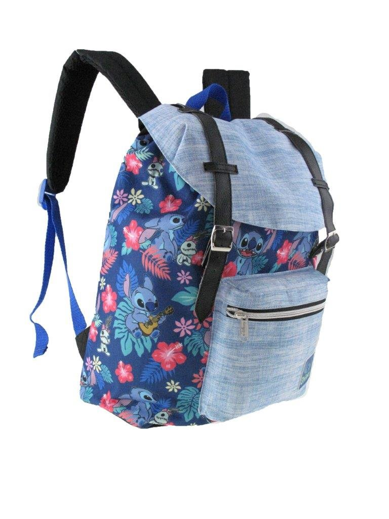 Licnesed Disney Lilo and Stitch Allover Print Pattern Vintage Style 16'' School Backpack