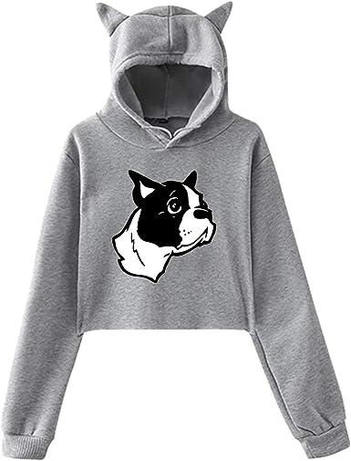 Childrens Love Boston Terrier Dog Heart Sweater Baby Girls Printed Sweater