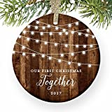 Our First Christmas Together Gifts Couple Engaged Rustic Review and Comparison