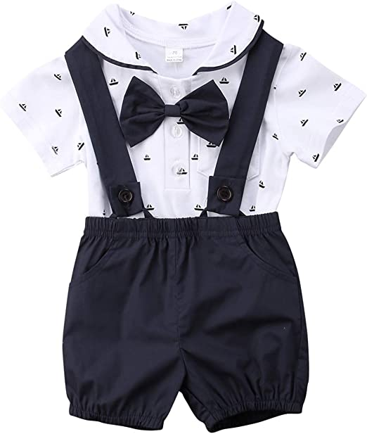 Summer Baby Kids Boy Infant Romper Jumpsuit Bodysuit Cotton Clothes Outfit Set